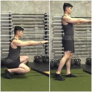 Image result for Staggered Squat, Left Leg Forward
